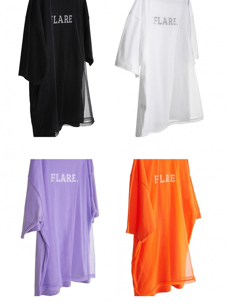 플레어업(FLAREUP) 쉬폰레스 티셔츠 - 오렌지 / 주황 (FU-142)