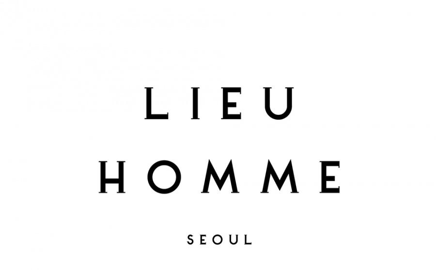 리우(LIEU) 리우 로고 버킷 햇_베이지