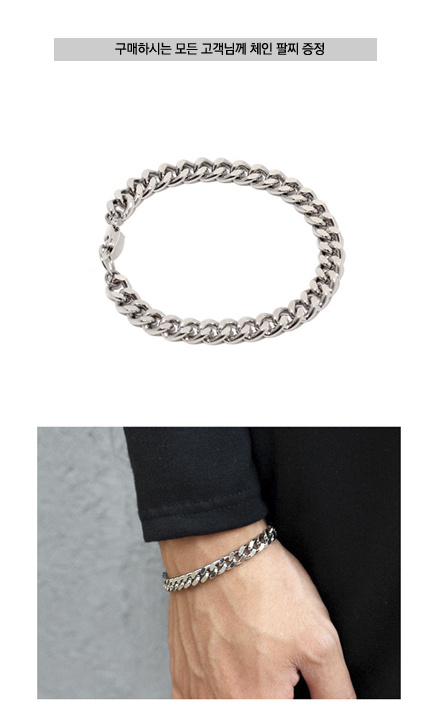 셉텐벌5(SEPTEMBER5) [체인팔찌증정]Razor skinny chain necklace