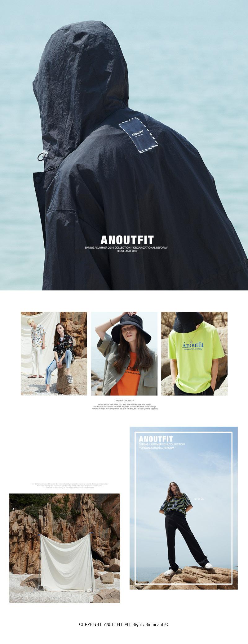 언아웃핏(AOTT) 유니섹스 하프 체크셔츠 자켓 블랙