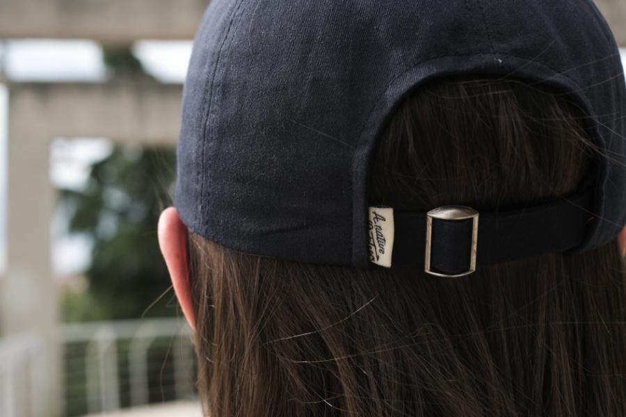 어네이티브(A.NATIVE) 캠프 자수 매쉬 볼캡 모자 (베이지)
