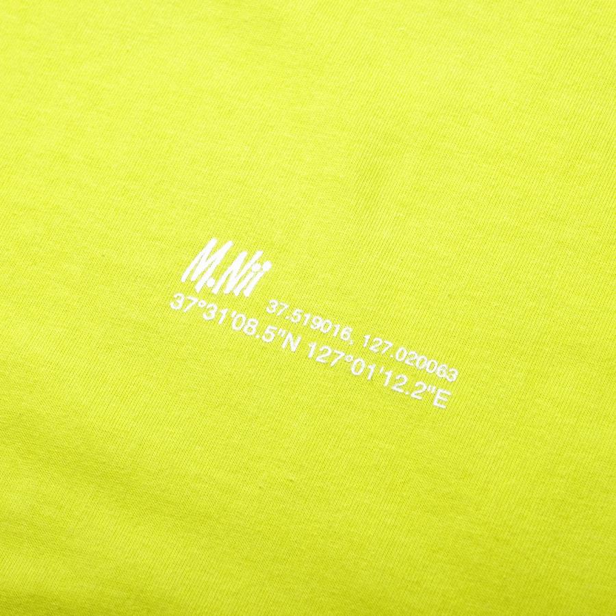 엠니(M.Nii) Summer Lettering T-Shirt / Neon Green
