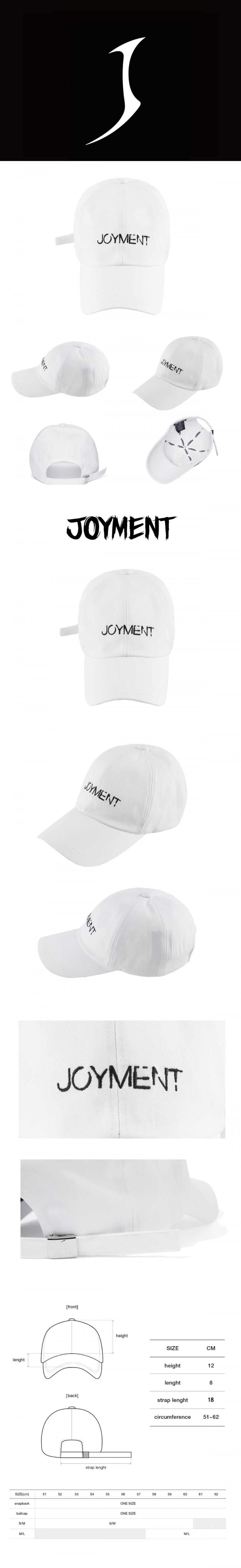 조이먼트(JOYMENT) COTTON FONT-09 BALL CAP(WT-BK)
