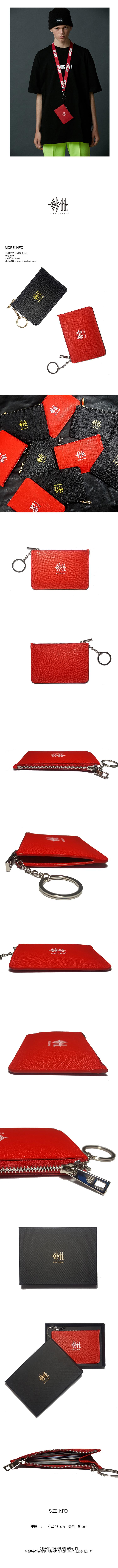 나인일레븐(NINE ELEVEN) Leather Card Wallet - Red