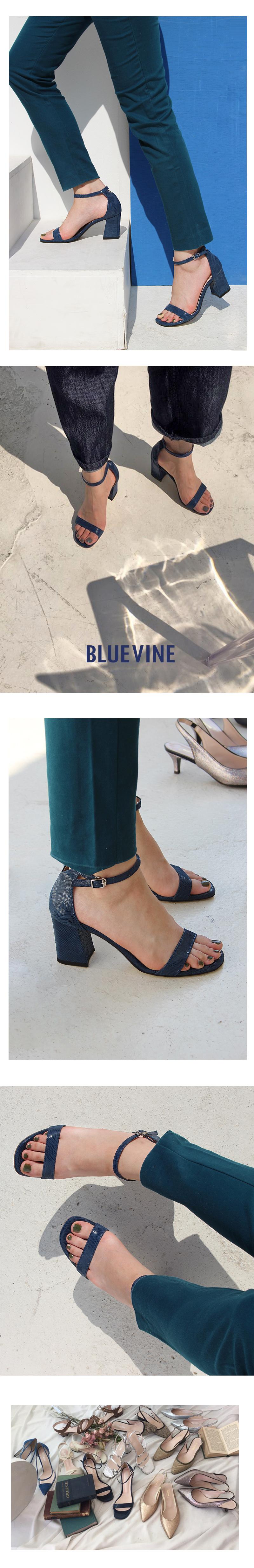 블루바인(BLUEVINE) 비비안 샌들 블루 그레이