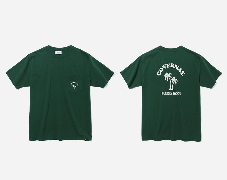 커버낫(COVERNAT) S/S COOPER PALM TREE TEE GREEN