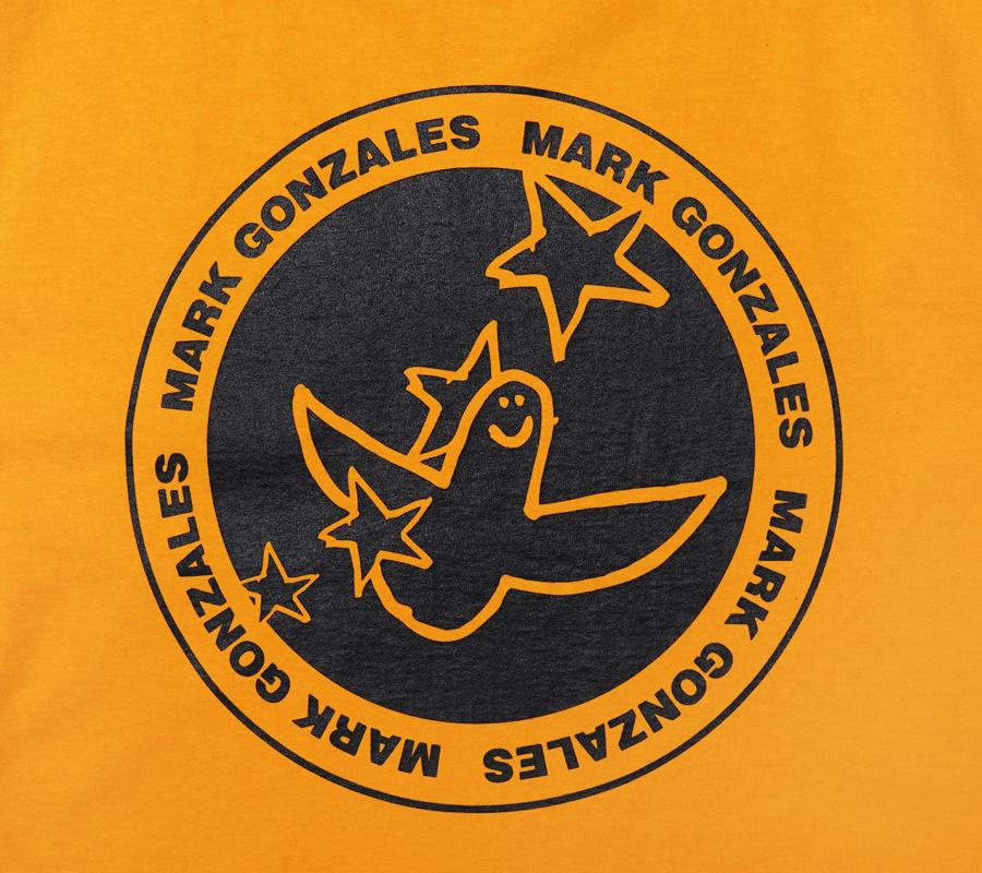마크 곤잘레스(MARK GONZALES) M/G ANGEL STAMP T-SHIRTS YELLOW
