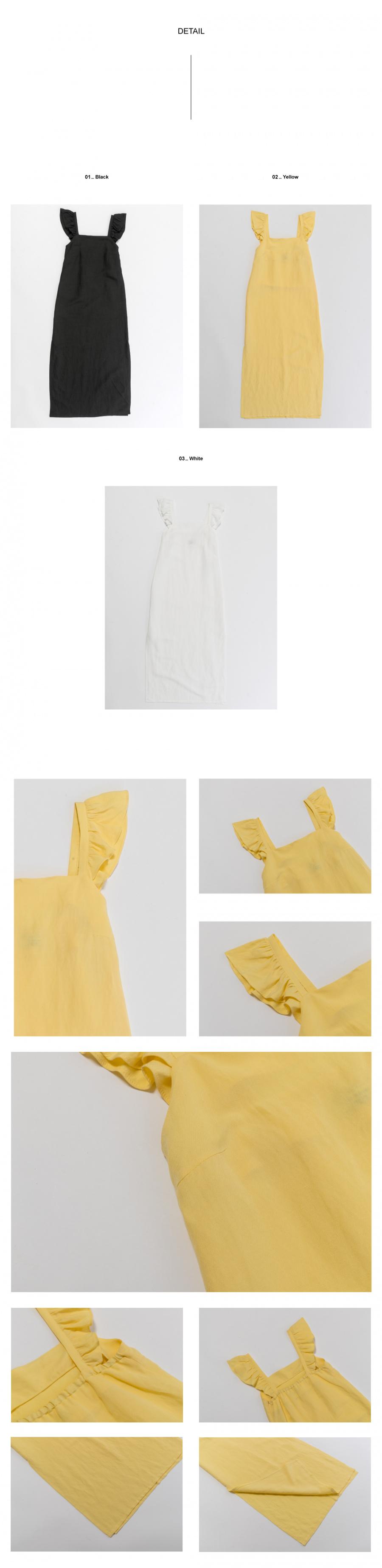 레이디 볼륨(LADY VOLUME) sleeveless frill one piece_white