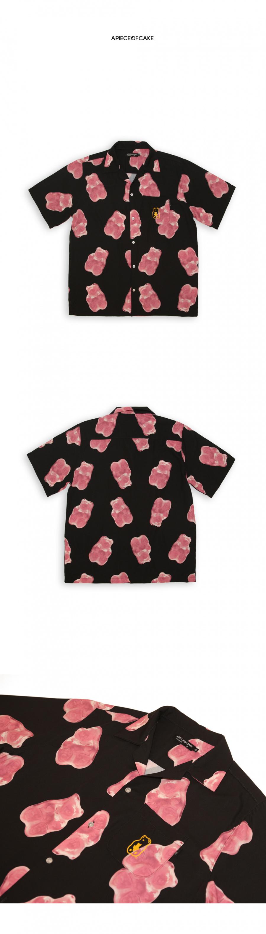 어피스오브케이크(APOC) Grape Gummy Hawaiian Shirts_Black