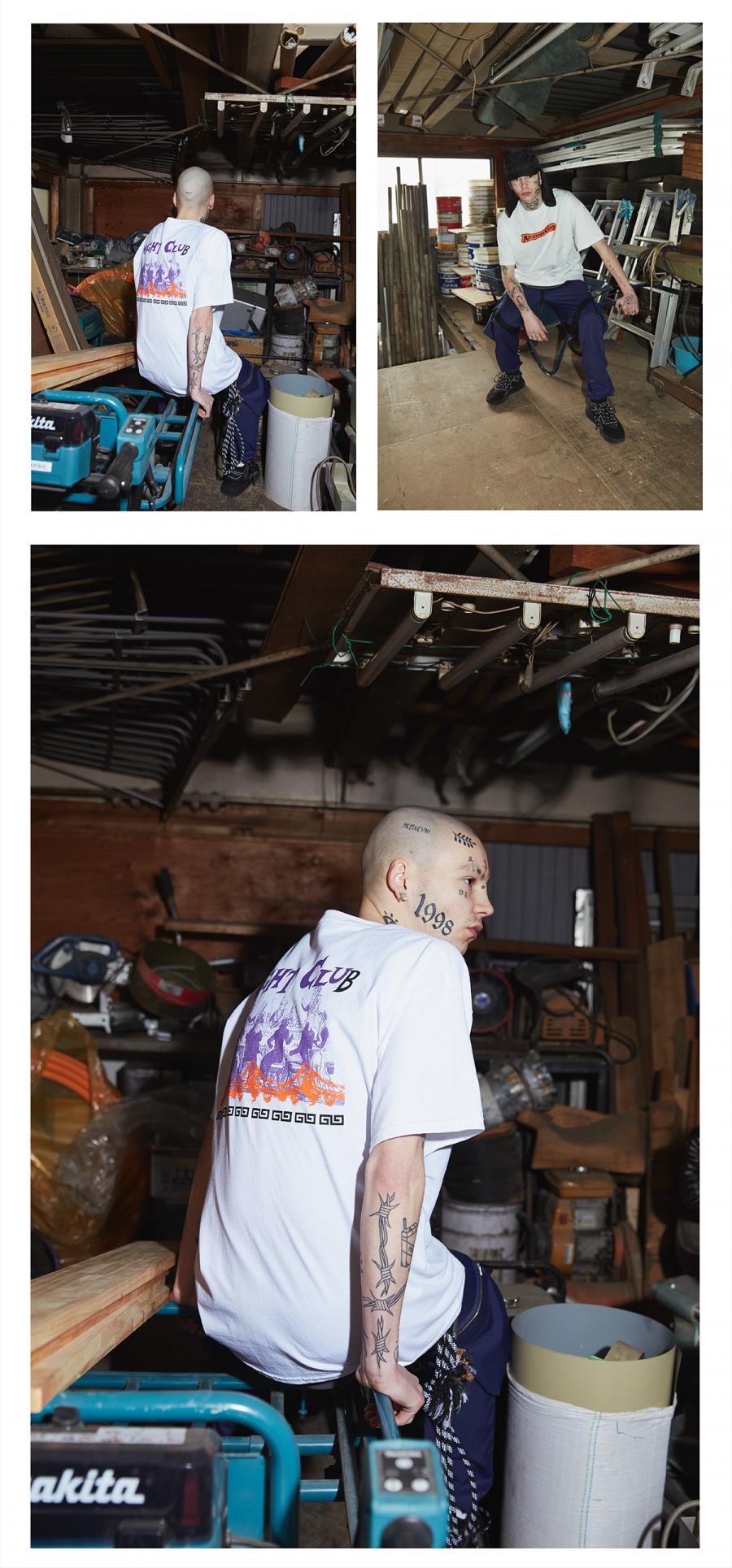 캐스퍼존아이바(CASPERJOHNAIVER) 나이트 클럽 오버 티셔츠(화이트)