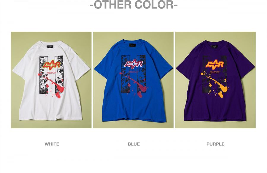 캐스퍼존아이바(CASPERJOHNAIVER) 스플레쉬 언듈레이션 오버 티셔츠(블루)