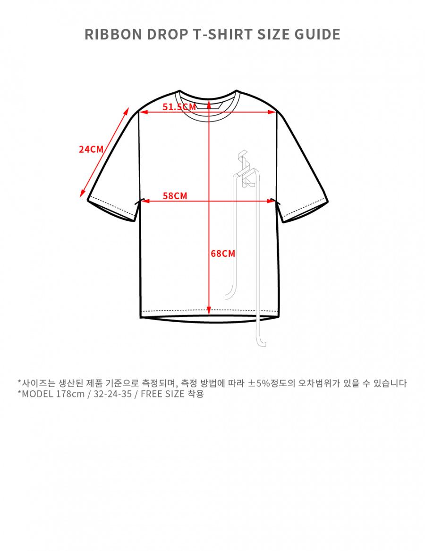 더 스튜디오 케이(THE STUDIO K) 19SS 리본 드롭 티셔츠