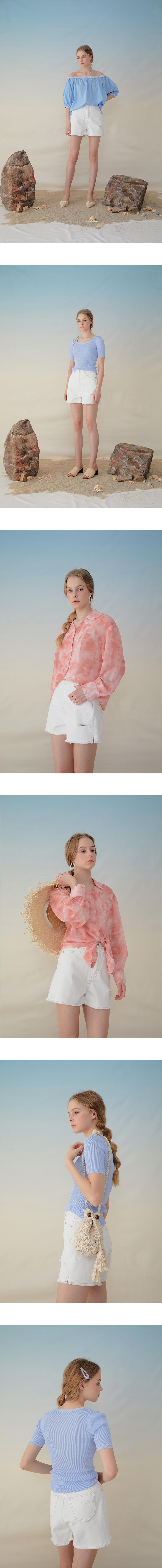 몬츠(MONTS) 956 cotton shorts in white