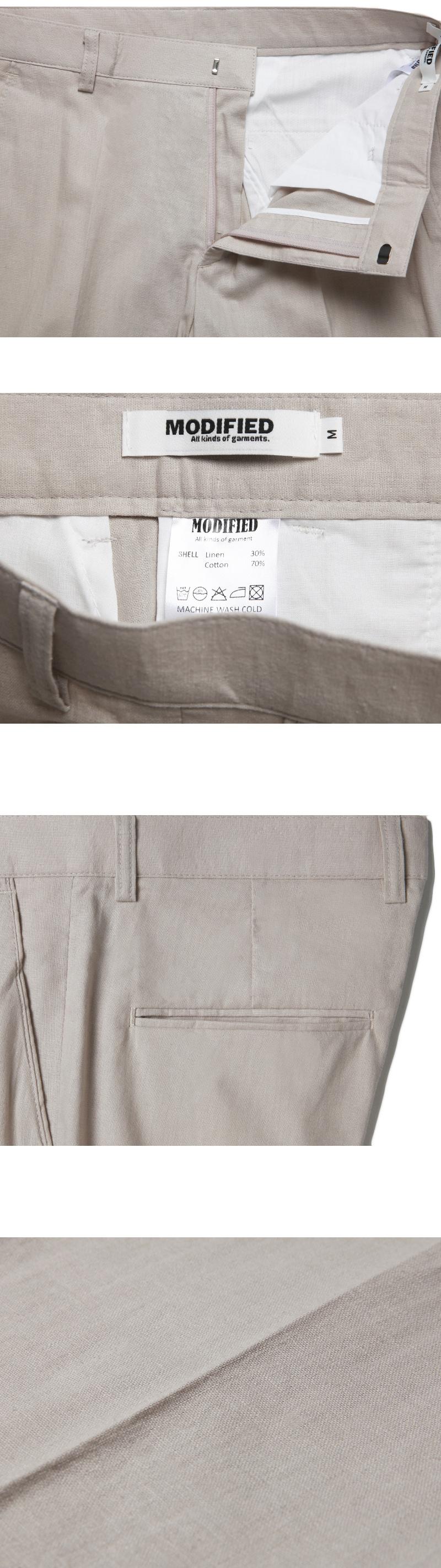 모디파이드(MODIFIED) [린넨 세미와이드 슬렉스] M#1759 summer linen semiwide slacks