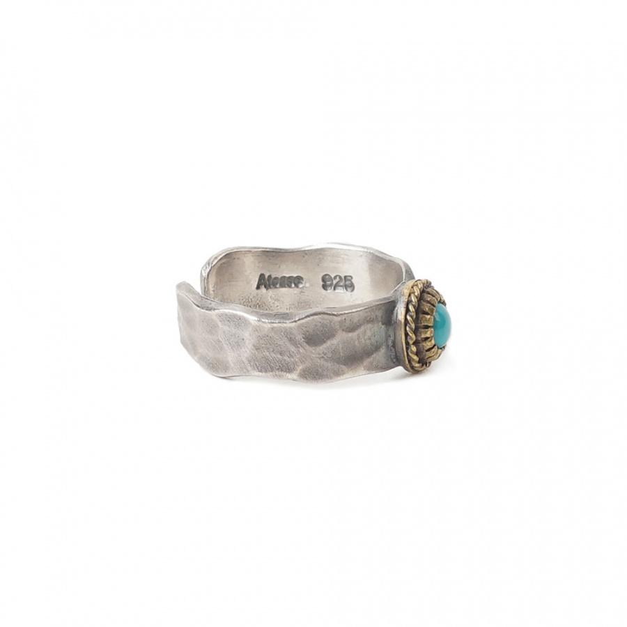 아티스(ATEASE) Turquoise Tataki Plate Ring S