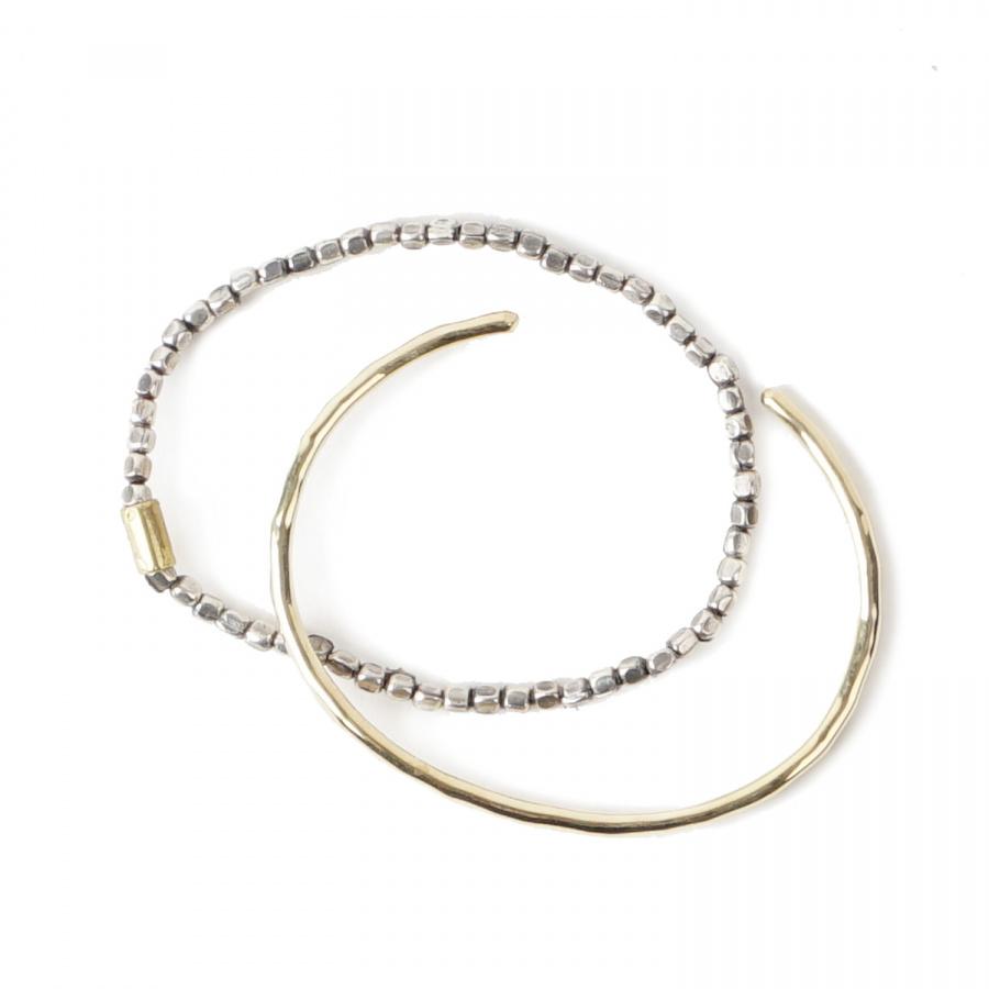 아티스(ATEASE) Brass Beads Bracelet Silver