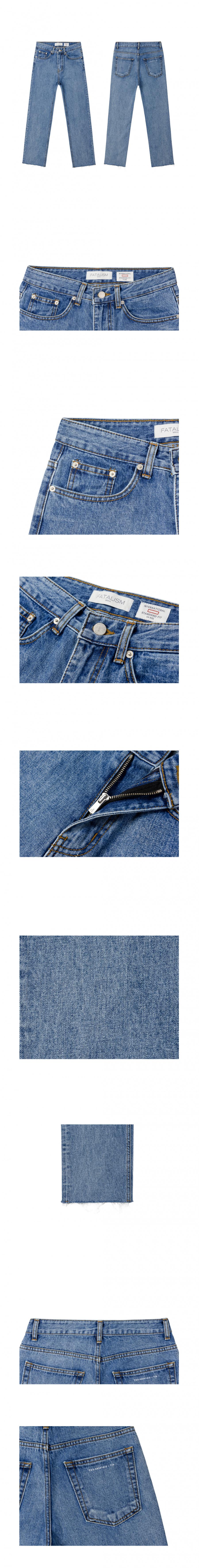 페이탈리즘(FATALISM) middle blue  ordinary crop  fit #0091