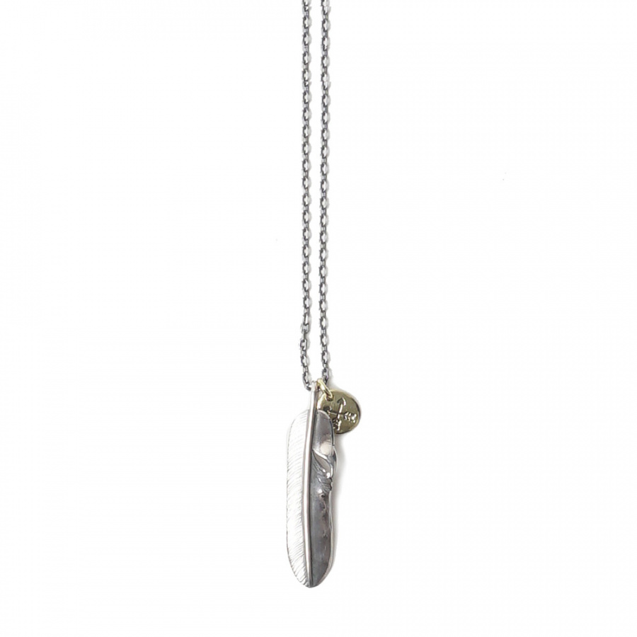 아티스(ATEASE) Small Feather 2 Set Necklace Silver