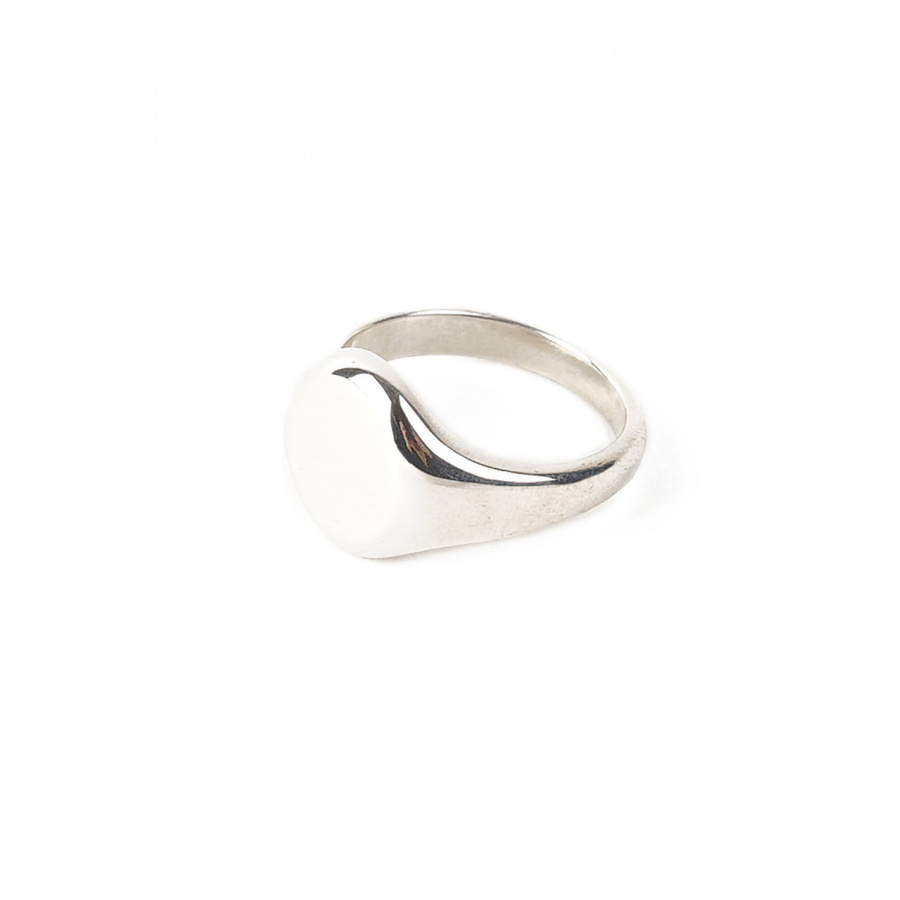 아티스(ATEASE) Plain Signet Ring Oval