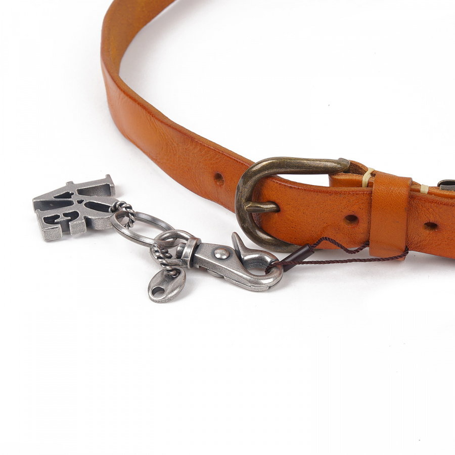 아티스(ATEASE) Love Wash Leather Belt Camel