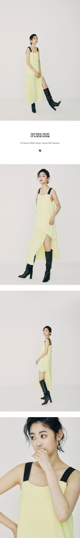 온느(ONNE) Unbal Twofold Maxi Dress Light Yellow