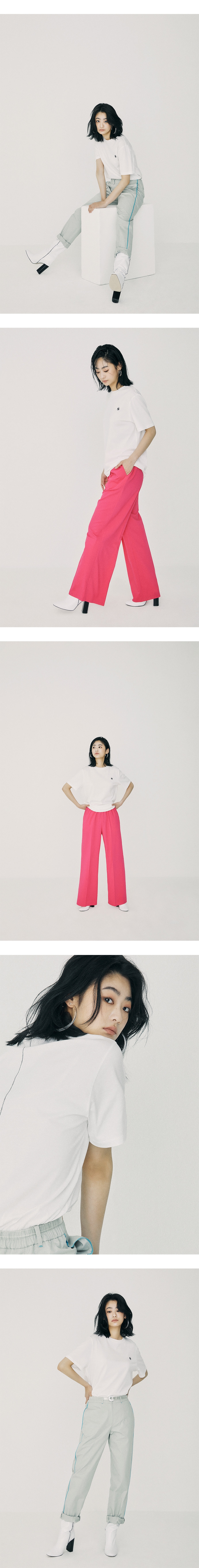 온느(ONNE) Zigzag Pointed Logo T-Shirt White
