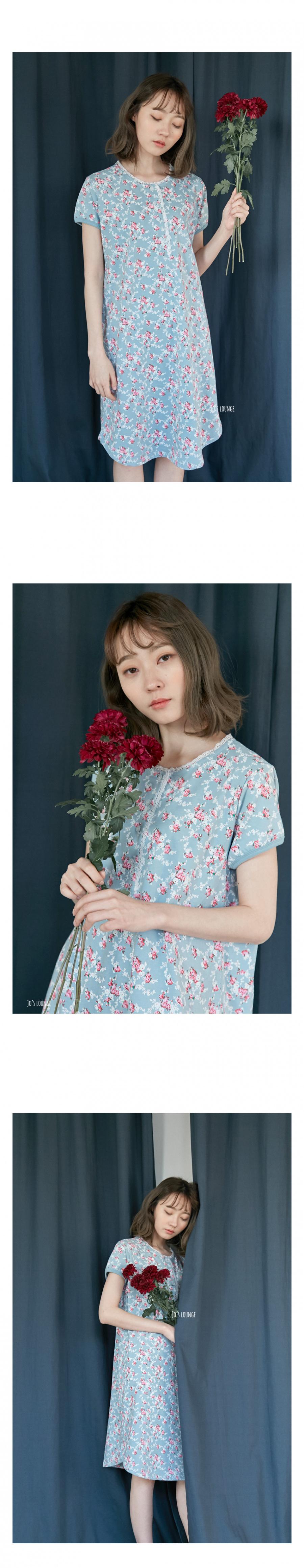 조스라운지(JOSLOUNGE) [여성] 로라 반팔 저지 원피스