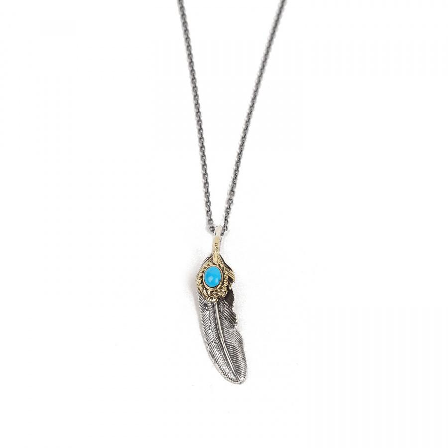 아티스(ATEASE) ATEASE Feather Stone Necklace Turquoise