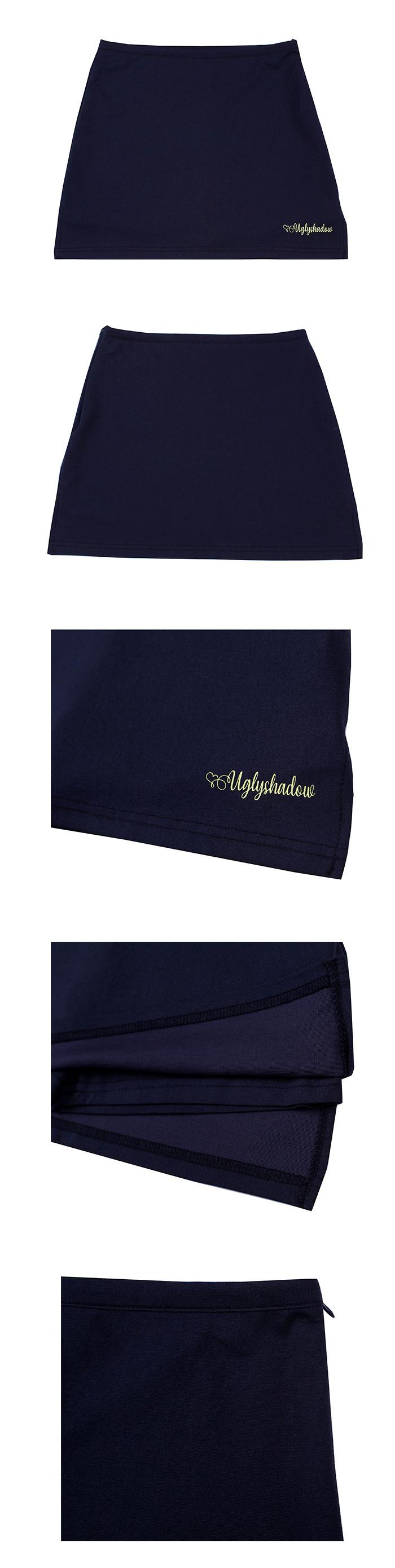 어글리쉐도우(UGLYSHADOW) 치마 바지(네이비)