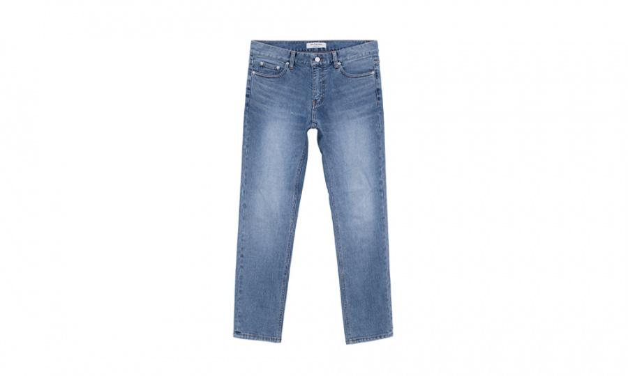 페이탈리즘(FATALISM) greysh blue crop jeans #0085