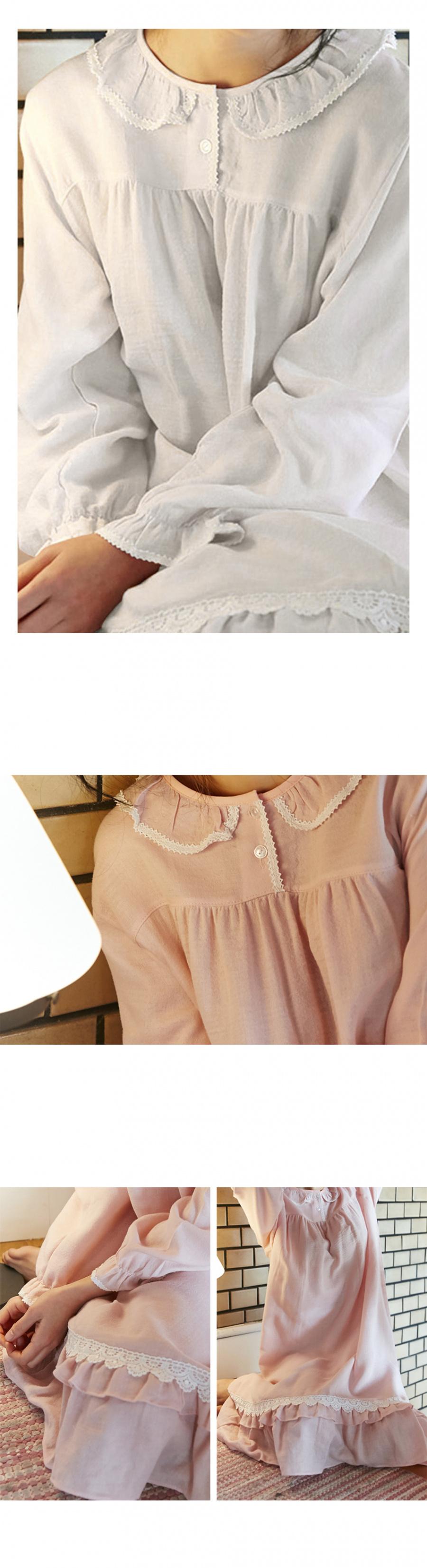 조스라운지(JOSLOUNGE) [여성] 소피아 긴팔 원피스  화이트