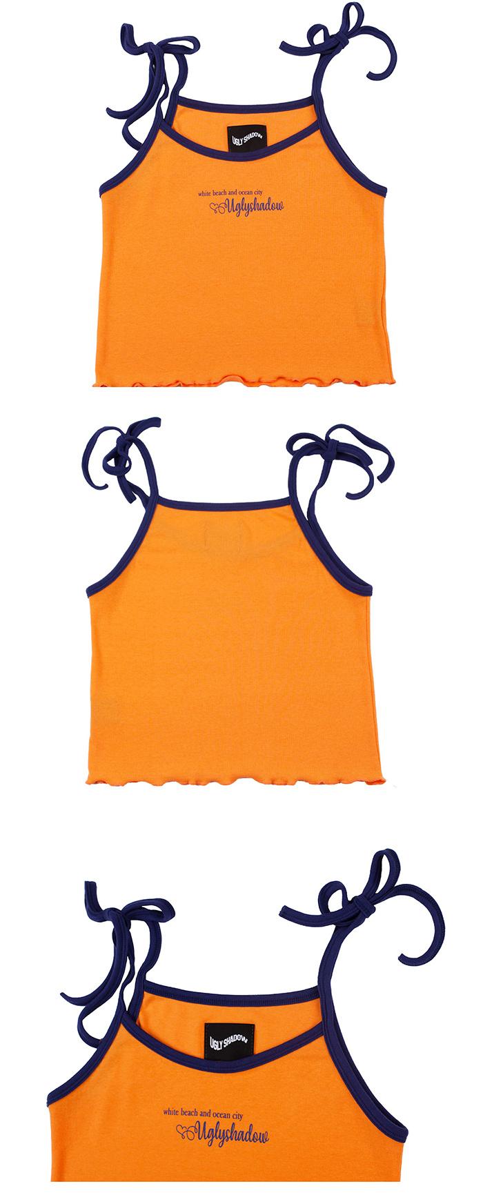 어글리쉐도우(UGLYSHADOW) 화이트 비치 나시(오렌지)