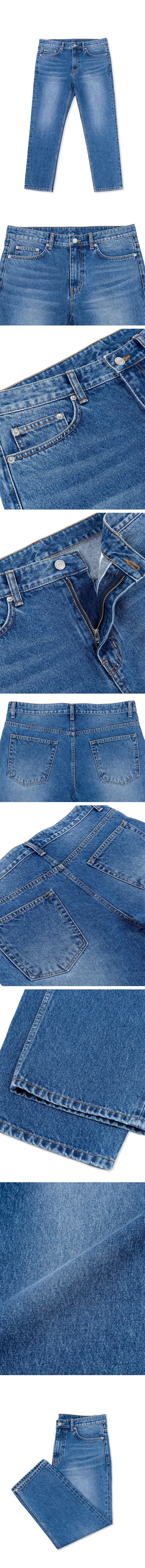 퍼스트플로어(FIRSTFLOOR) EASYGOING CROP PANTS (regular fit   mid blue)
