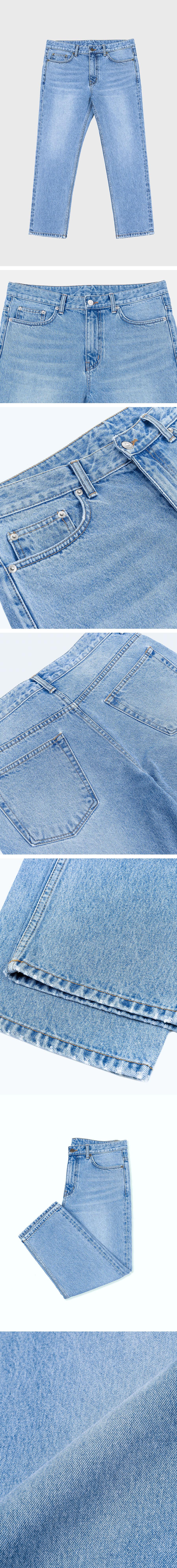 퍼스트플로어(FIRSTFLOOR) EASYGOING CROP PANTS (regular fit   light blue)
