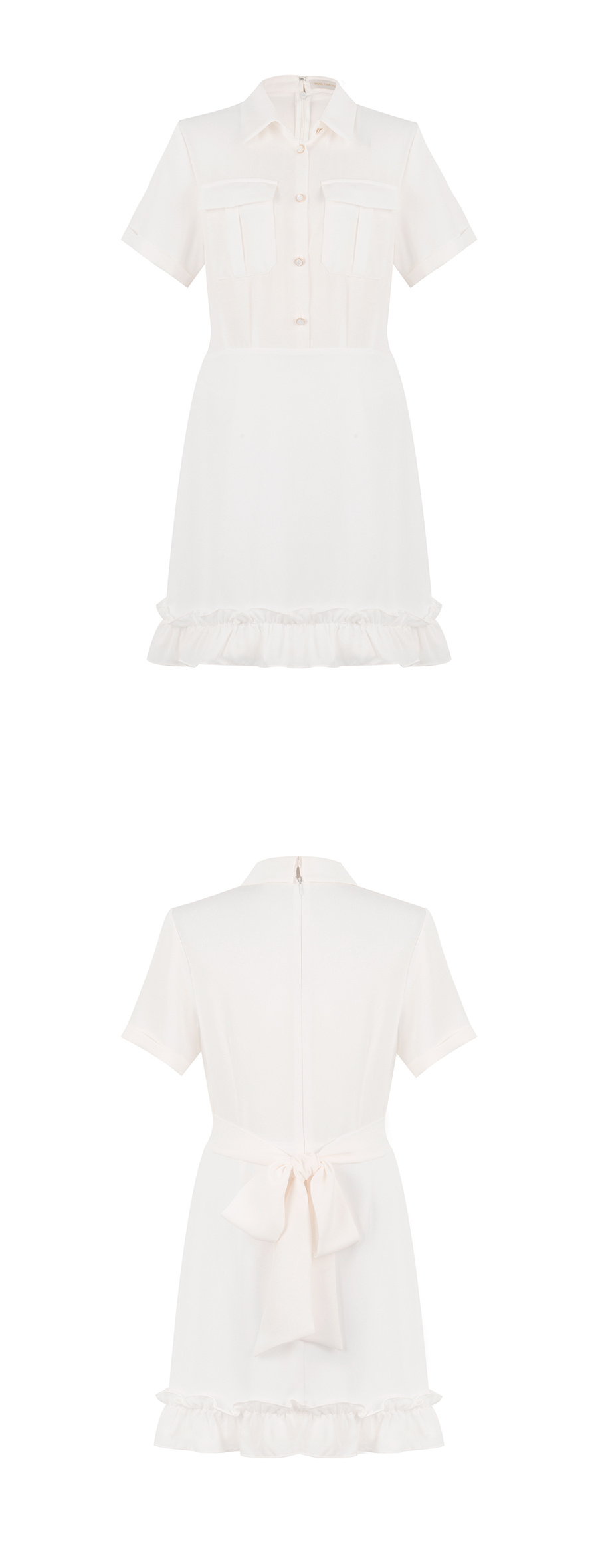 모어댄라이크(MORE THAN LIKE) POCKET COLLAR DRESS - IVORY