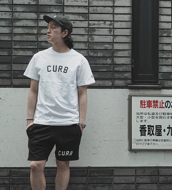 커브(CURB) 베이직 로고 티 /화이트
