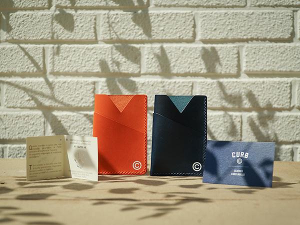 커브(CURB) 랲 카드지갑 /네이비