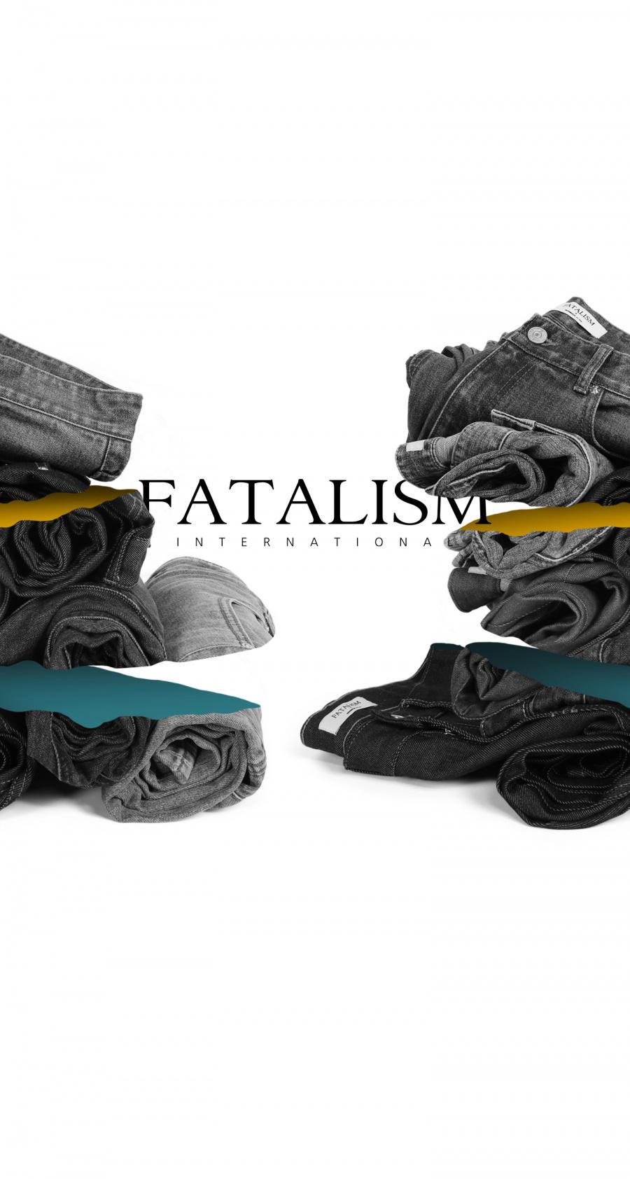 페이탈리즘(FATALISM) sunday destroyed slim crop fit #0122