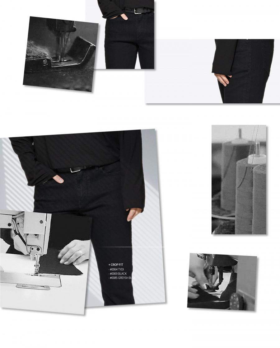 페이탈리즘(FATALISM) black crop jeans #0069