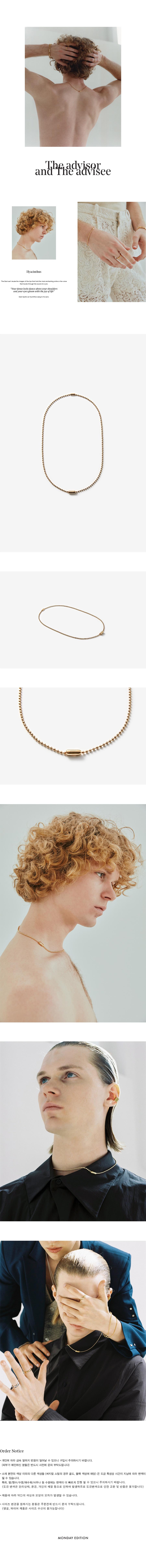 먼데이에디션(MONDAY EDITION) [MEd MAN] golden simple ball chain necklace