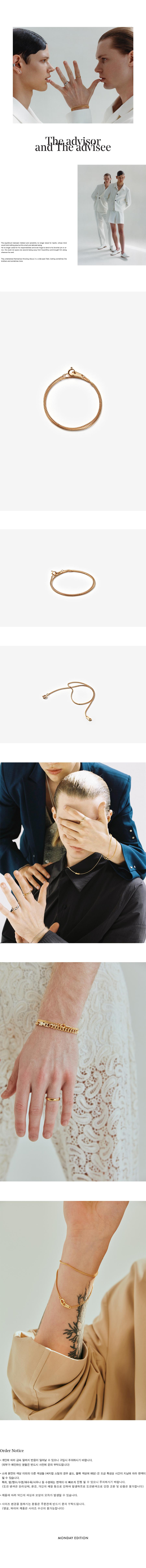 먼데이에디션(MONDAY EDITION) [MEd MAN] golden thin chain blacelet