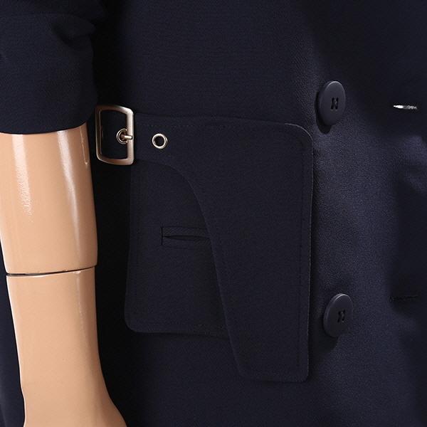 아르마니 익스체인지(ARMANI EXCHANGE) [여성](A429310523) 소매 셔링 포인트 더블버튼 자켓 (블랙)