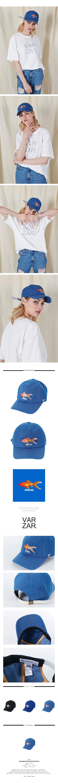 바잘(VARZAR) 생선 프린팅 볼캡 인디고