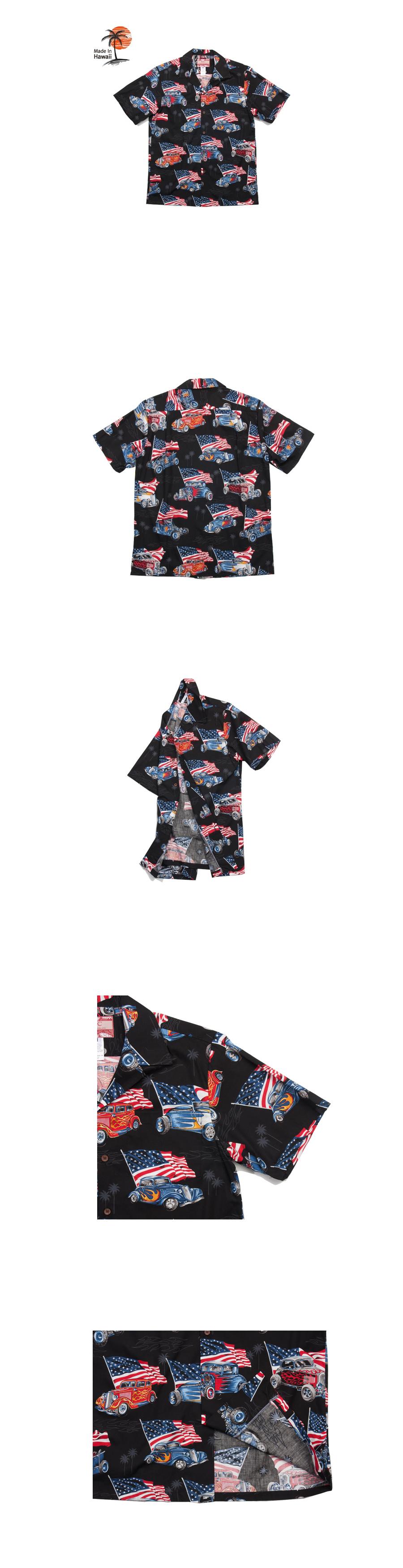 로버트제이씨 하와이(ROBERT J.C HAWAII) 102C.3157 Hawaii Shirts [Black]