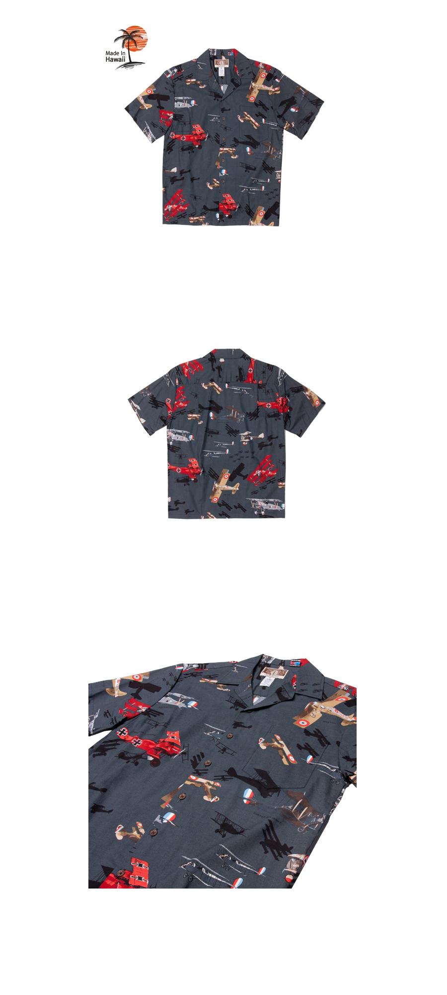 로버트제이씨 하와이(ROBERT J.C HAWAII) 250.845 Hawaii Shirts [Black]