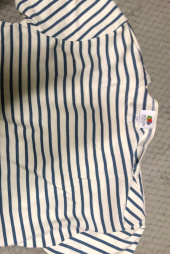프룻오브더룸(FRUIT OF THE LOOM) S/S STRIPE BOAT NECK BLUE 후기