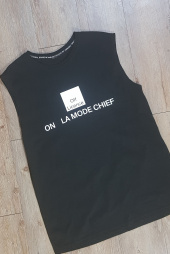 라모드치프(LAMODECHIEF) LAMC OFF LICENCE SLEEVELESS (BLACK) 후기