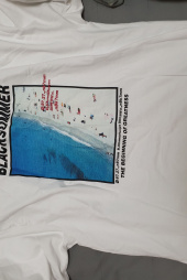 그루브라임(GROOVE RHYME) BEACH PRINT OVER FIT T-SHIRTS (WHITE) [GTS005H23WH] 후기