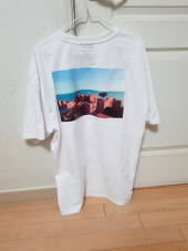 그루브라임(GROOVE RHYME) SANTORINI BEACH PRINT OVER FIT T-SHIRTS(WHITE) [GTS006H23WH] 후기