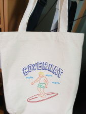 커버낫(COVERNAT) SURFER MAN ECO BAG BLACK 후기